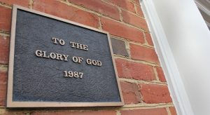 To the Glory of God sign