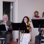 Tom Shafer and Sarah Wolf, part of Brass Ensemble