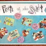 Visual representations of the Fruit of the Spirit by the senior high youth
